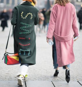 PARIS, FRANCE - JANUARY 24: Guests seen in the streets of Paris before the Vetements Fashion Show during Haute Couture Fashion Week on January 24, 2017 in Paris, France.  (Photo by Timur Emek/Getty Images)